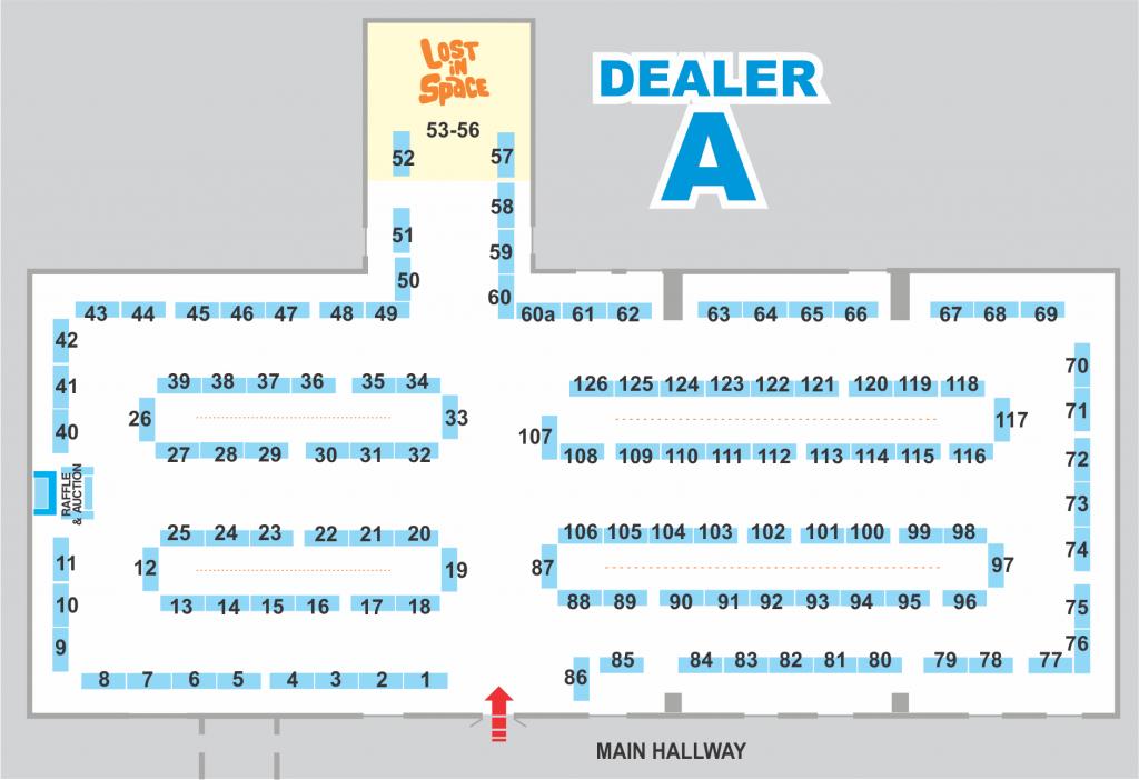 Map of Dealer Room A